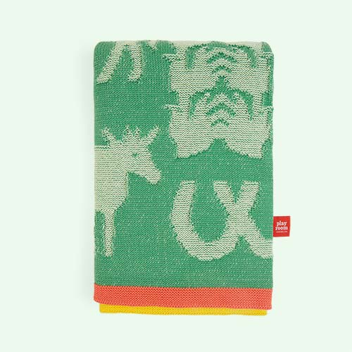 Apple Green Playroom Interiors Blanket