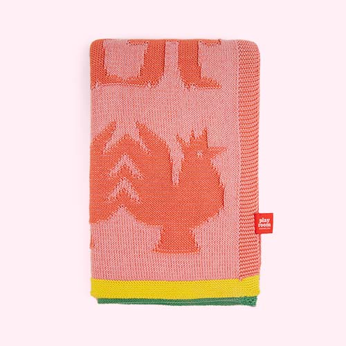 Coral Playroom Interiors Blanket