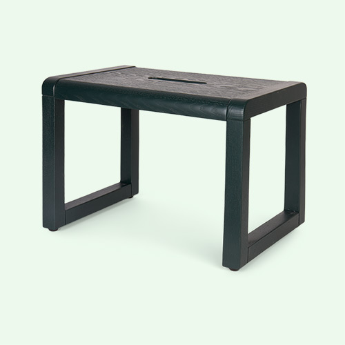 Dark Green Ferm Living Little Architect Stool