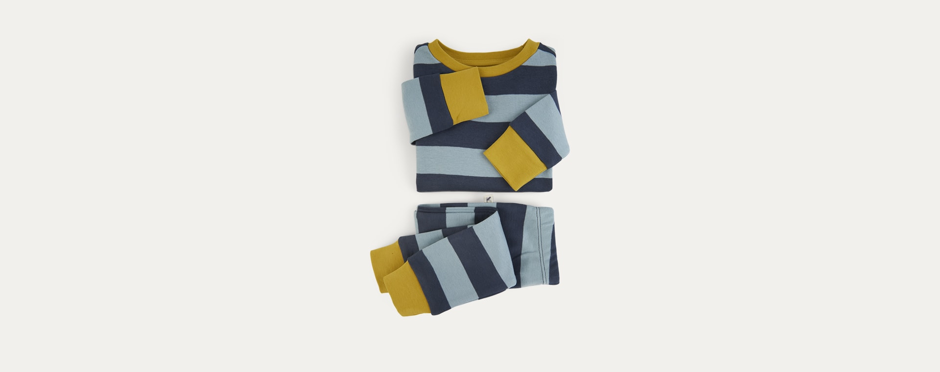 Blue Stripe KIDLY Label Organic Pyjamas