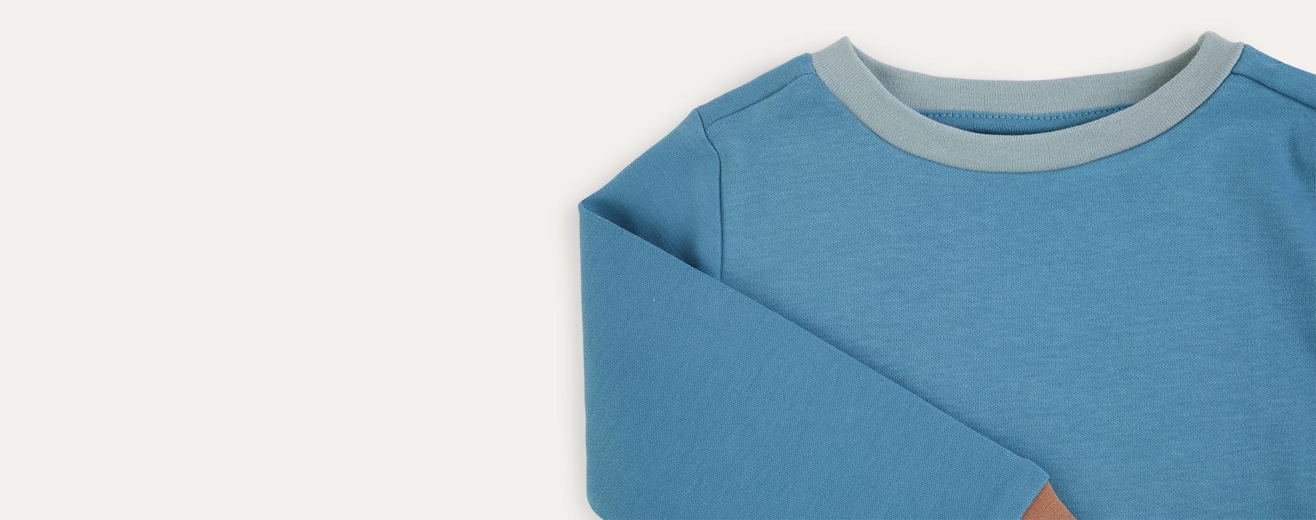 Deep Blue Mix KIDLY Label Organic Pyjamas
