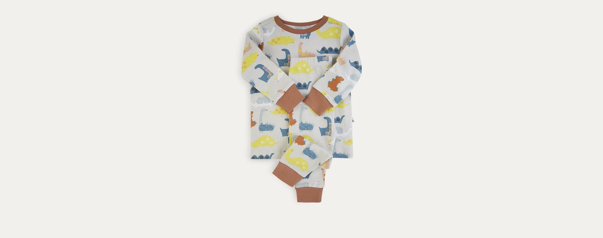 Dino Print KIDLY Label Organic Pyjamas