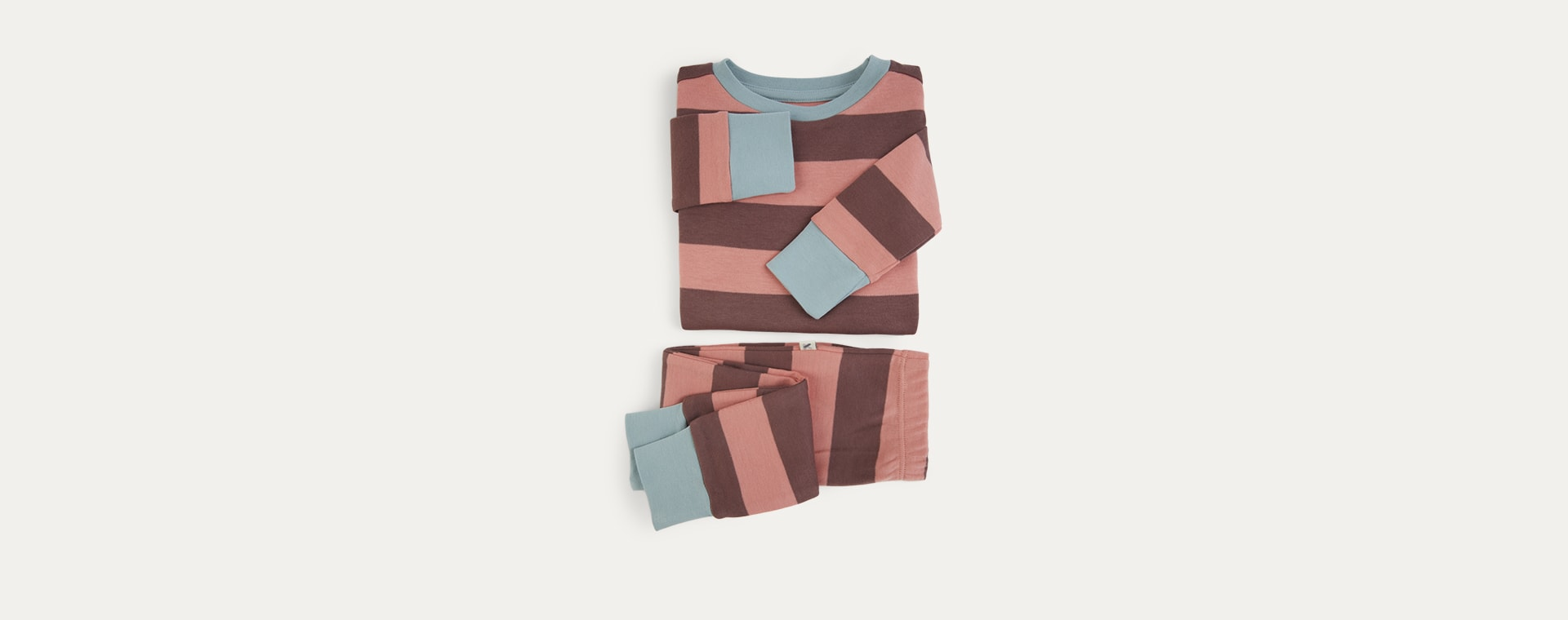 Pink Stripe KIDLY Label Organic Pyjamas
