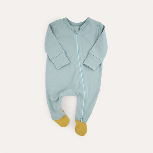 Ocean Mix KIDLY Label Organic Zip Sleepsuit