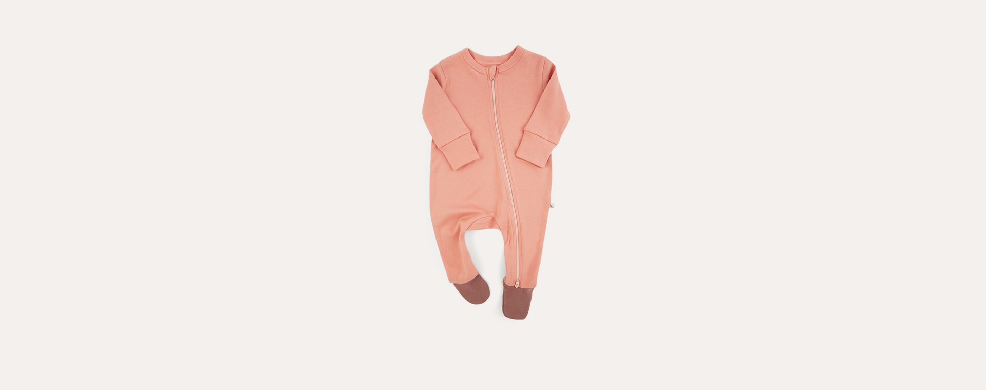 Blush Mix KIDLY Label Organic Zip Sleepsuit