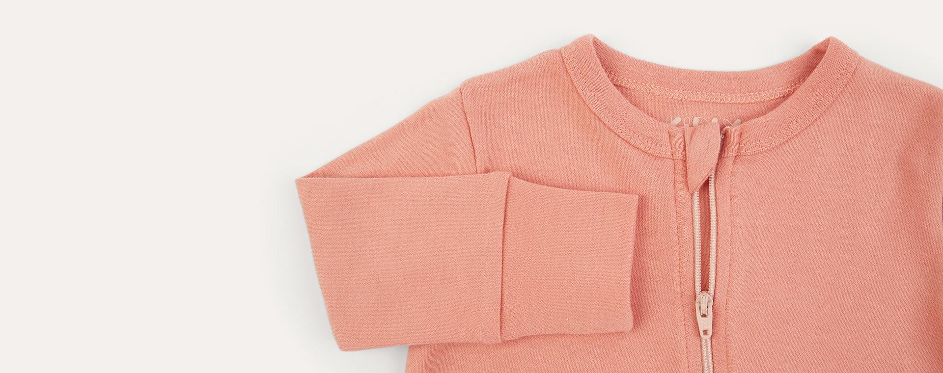 Blush Mix KIDLY Label Organic Zip Sleepsuit