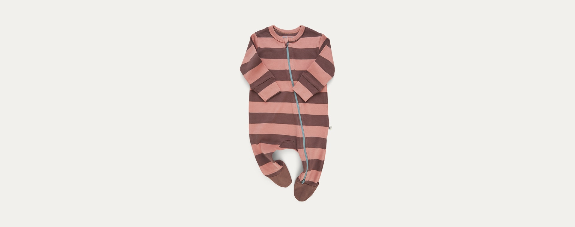 Pink Stripe KIDLY Label Organic Zip Sleepsuit