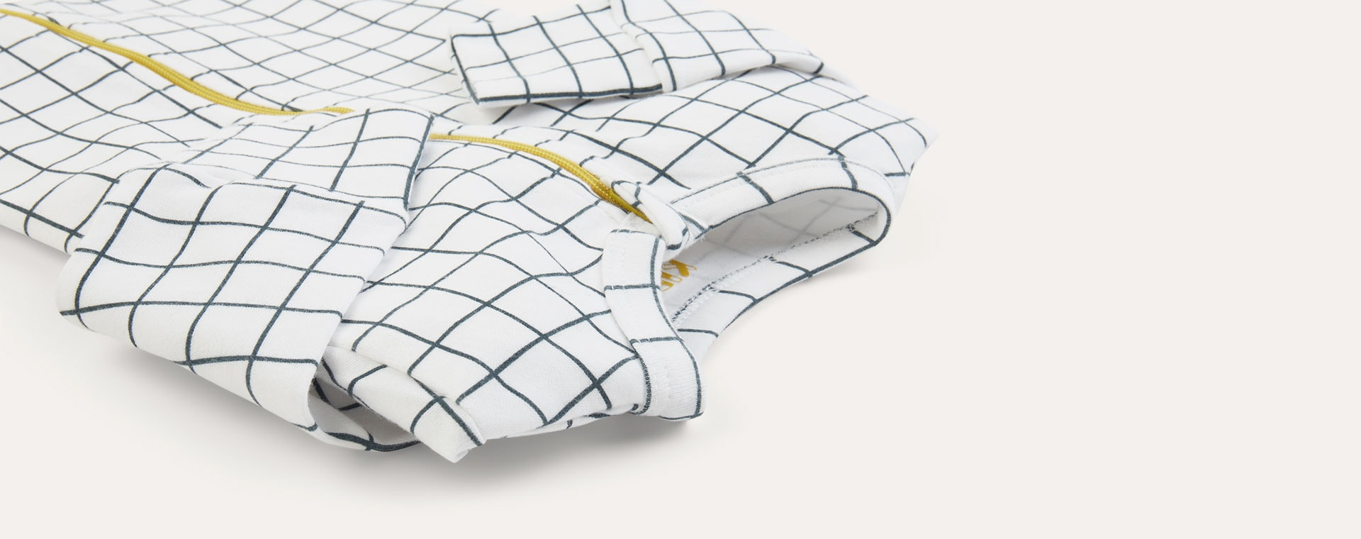 Grid KIDLY Label Organic Zip Sleepsuit
