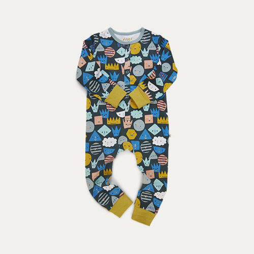 Shapes Print KIDLY Label Organic Onesie