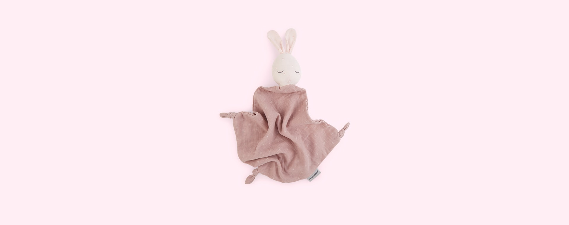 Pink Nattou Pure Doudou Bunny