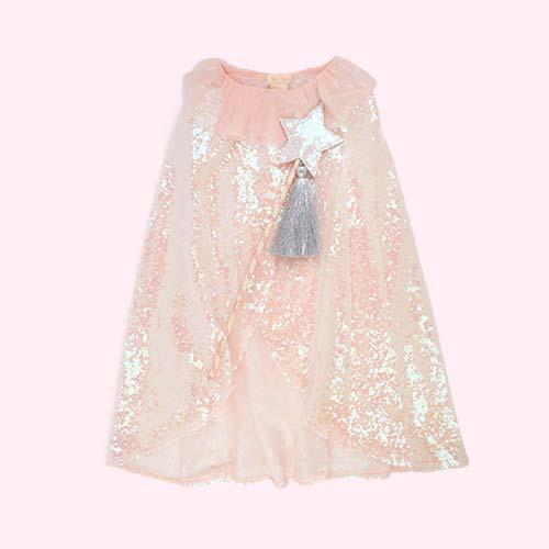 Pink Meri Meri Iridescent Sequin Cape & Wand