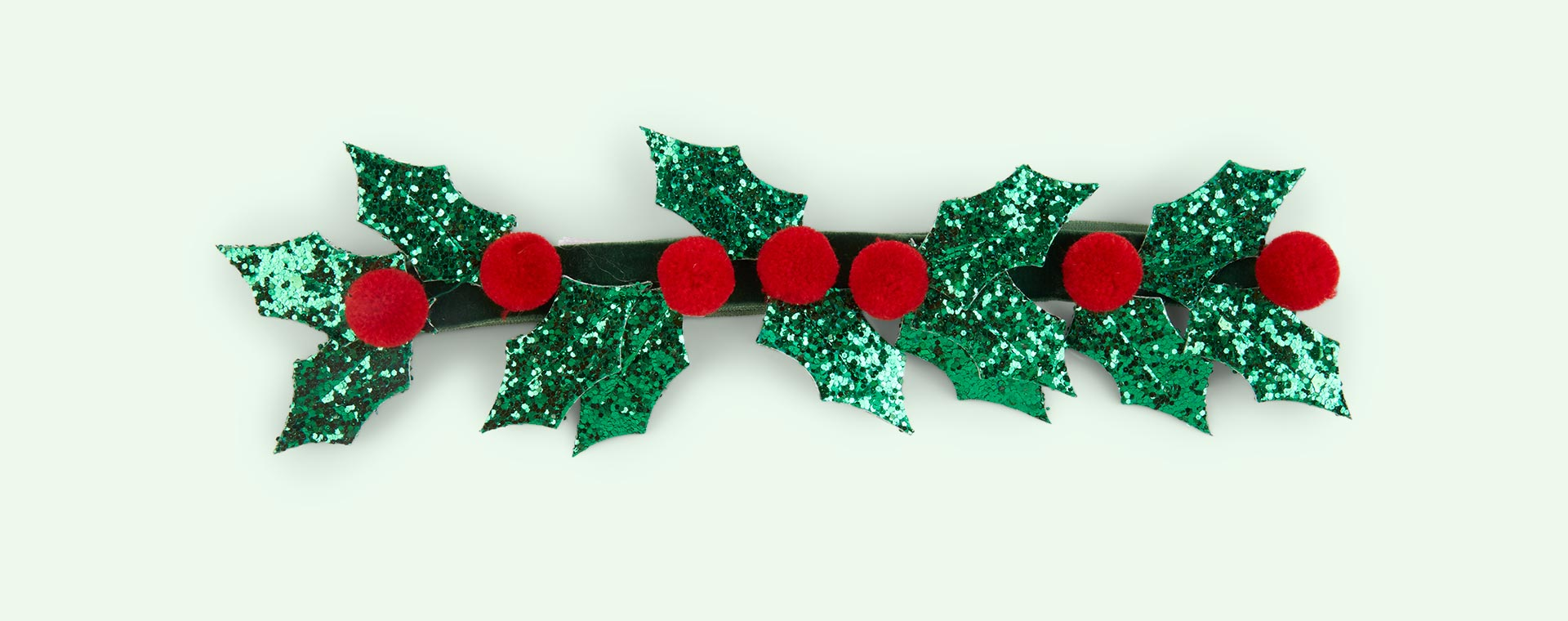 Green Meri Meri Glitter Holly Crown
