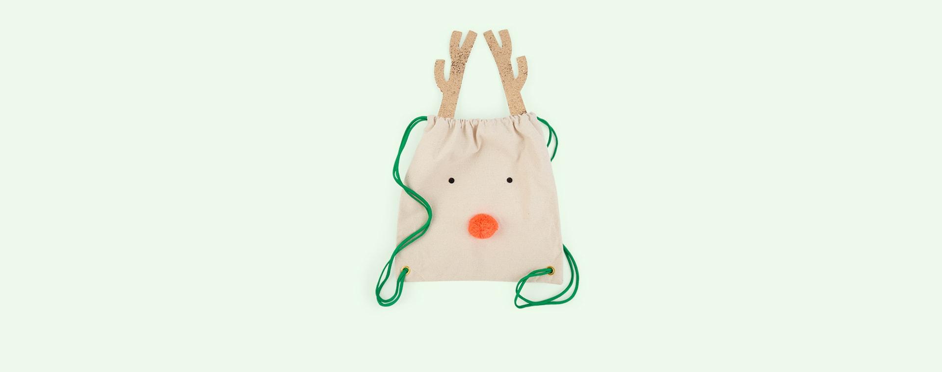 Cream Meri Meri Reindeer Backpack
