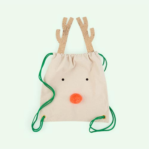 Cream Meri Meri Reindeer Backpack