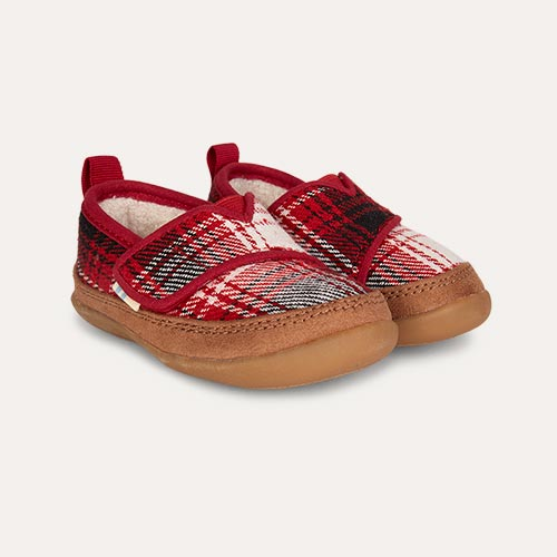 Red TOMS Plaid Inca Slipper