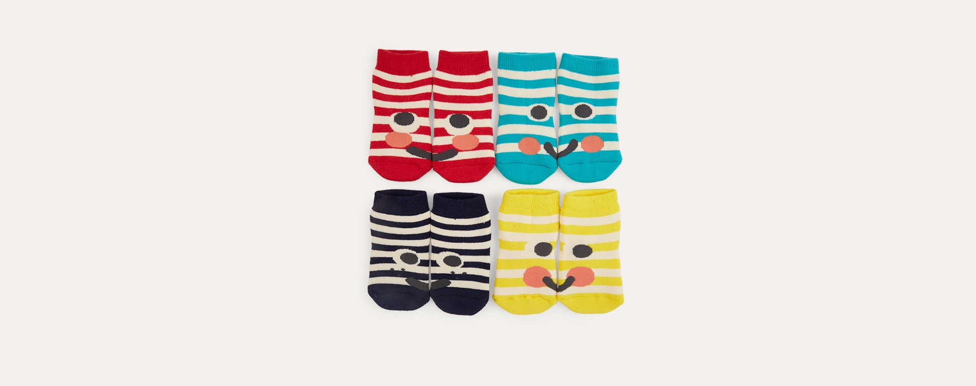 Brights Tootsa Striped Socks 4 Pack