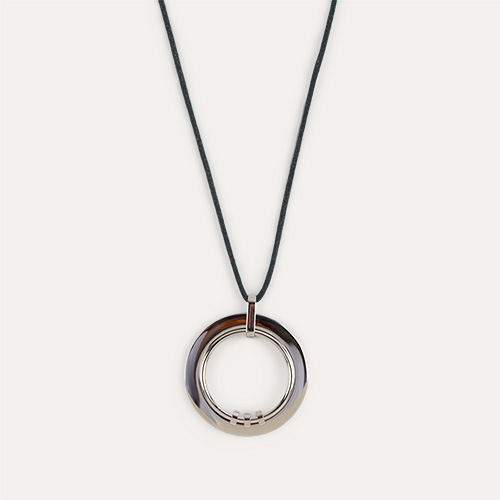 Black Yummikeys Stainless Steel Feeding Necklace