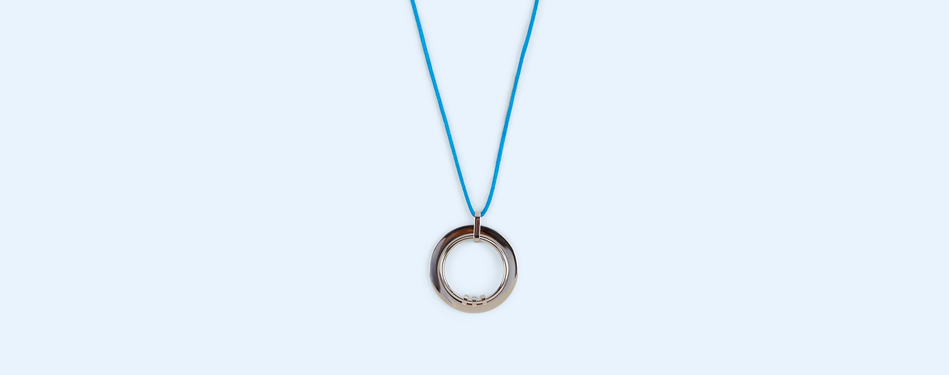 Blue Yummikeys Stainless Steel Feeding Necklace
