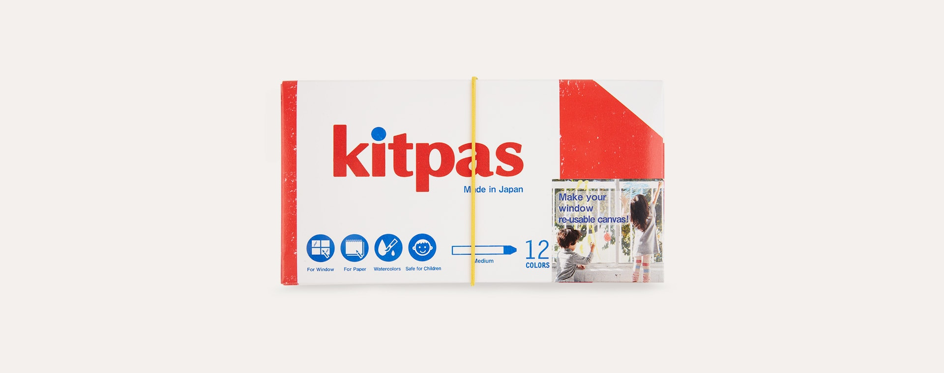 Multi kitpas Medium 12 Crayon Colours