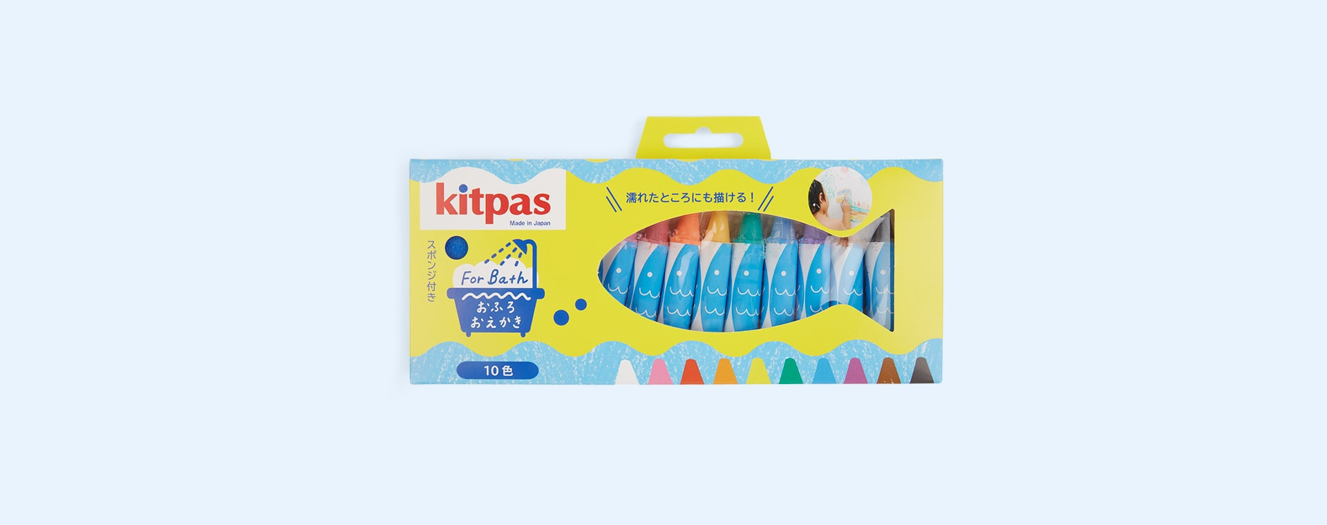 Multi kitpas Bath Crayons 10 Colours