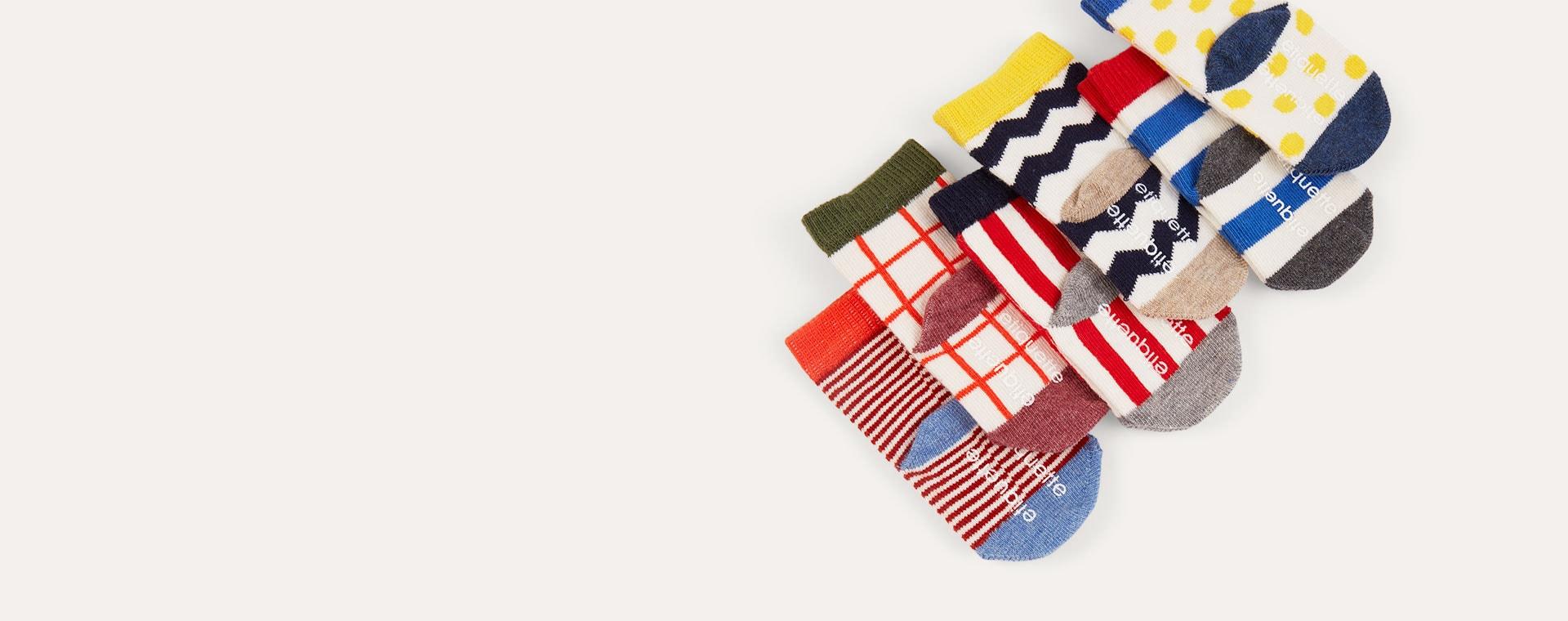 Graphix etiquette 6-Pack Baby Socks 0-12m