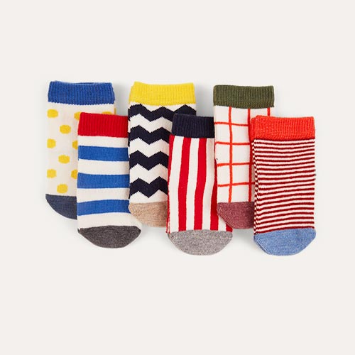 Graphix etiquette Baby Socks 6 Pack 0-12m