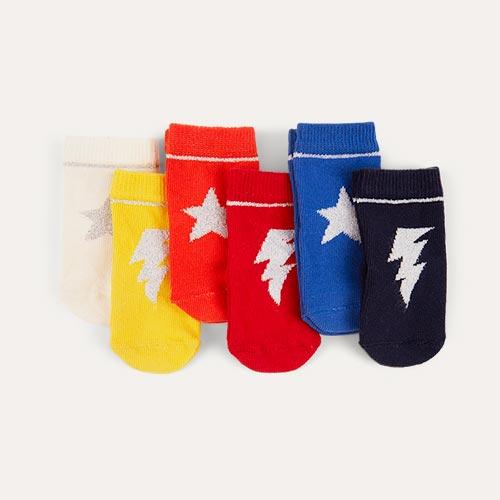Popster etiquette 6-Pack Baby Socks 0-12m