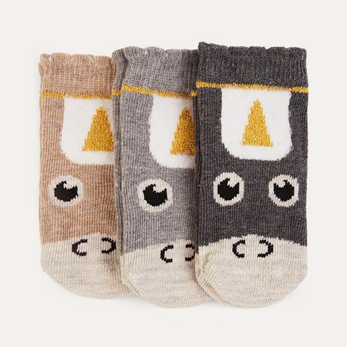 Neutral etiquette 3-Pack Unicorn Baby Socks 0-12m