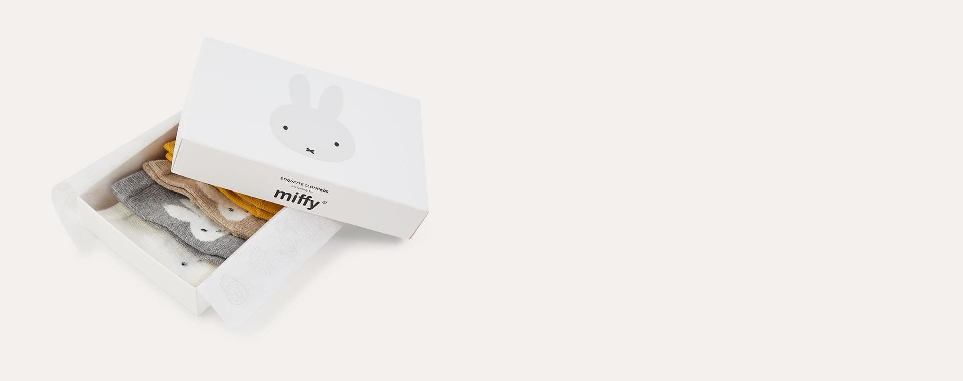 Multi etiquette Miffy x Etiquette Baby Socks 6 Pack 0-12m