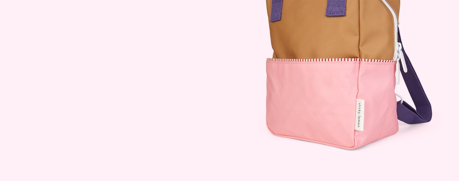 Gold/Pink/Purple Sticky Lemon Small Colourblock Backpack