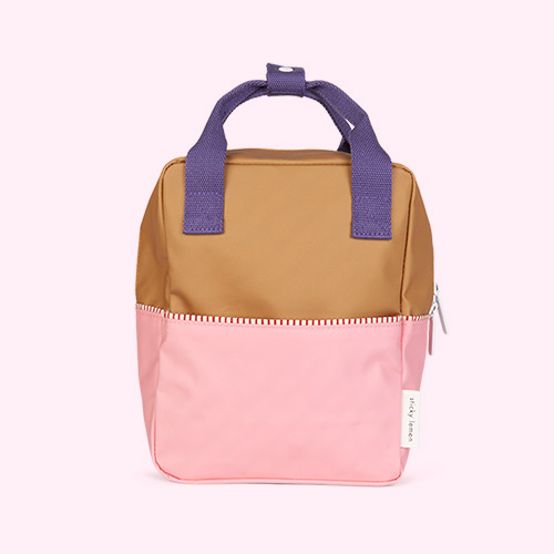 Gold/Pink/Purple Sticky Lemon Small Colourblock Backpack