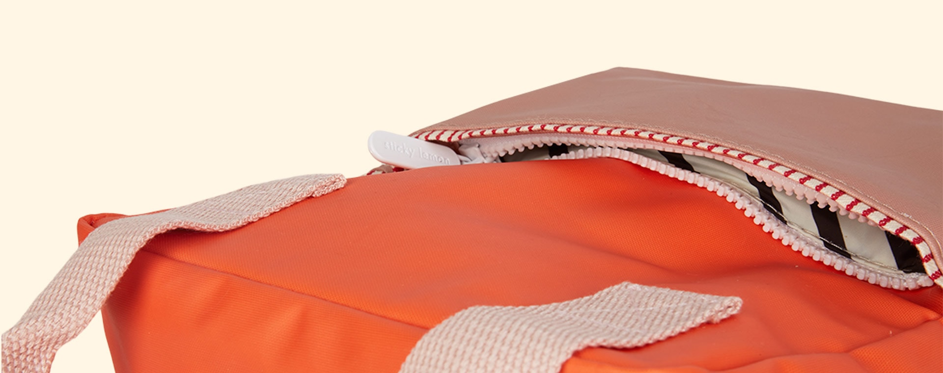 Orange/Chocolate/Pink Sticky Lemon Small Colourblock Backpack