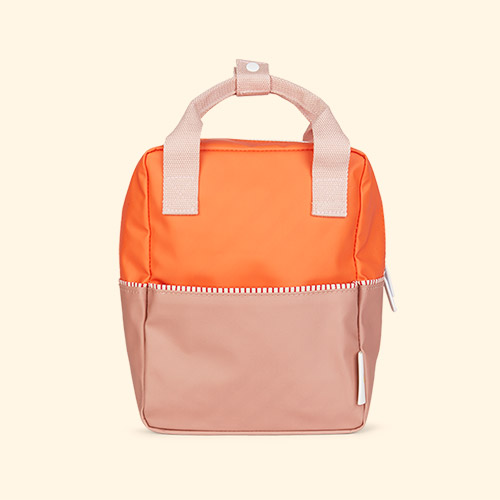 Orange/Chocolate/Pink Sticky Lemon Small Colourblock Backpack