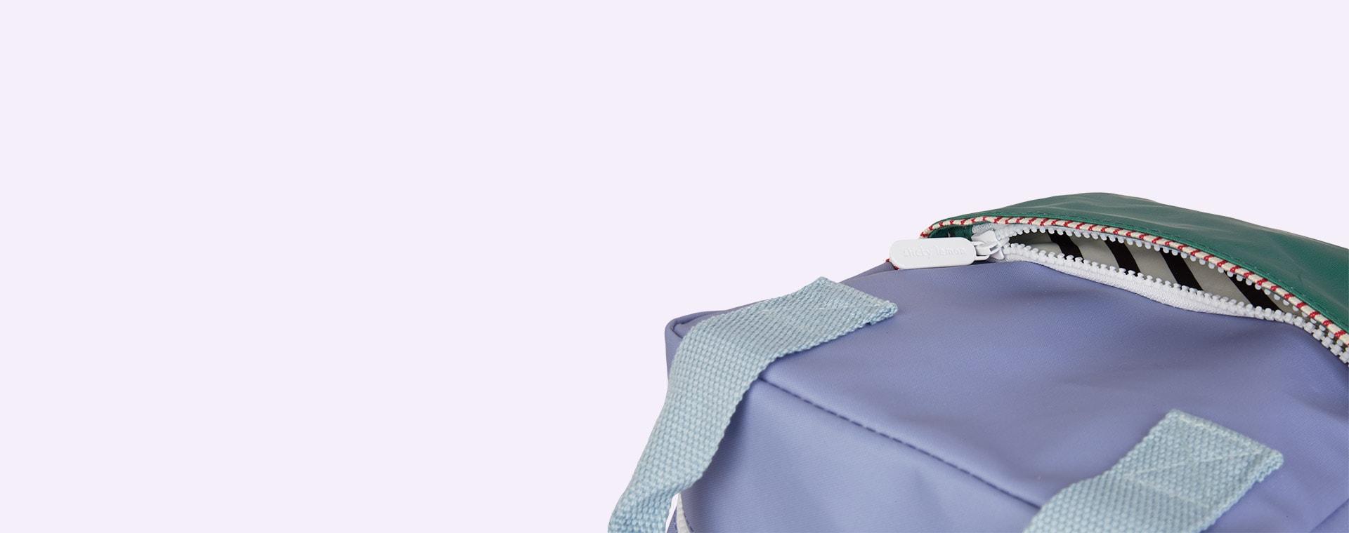 Purple/Green/Blue Sticky Lemon Small Colourblock Backpack