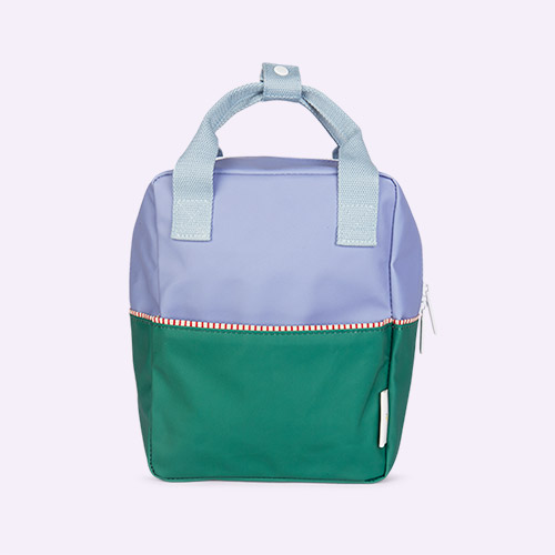 Purple/Green/Blue Sticky Lemon Small Colourblock Backpack