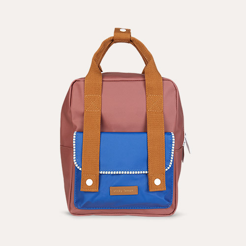 Brick/Blue/Brown Sticky Lemon Small Deluxe Backpack