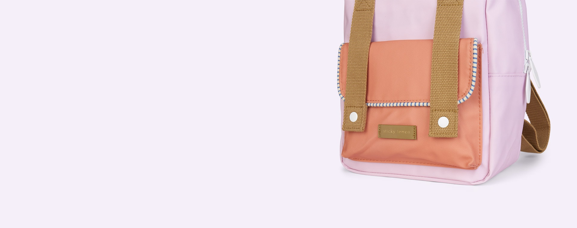 Lilac/Orange/Olive Sticky Lemon Small Deluxe Backpack