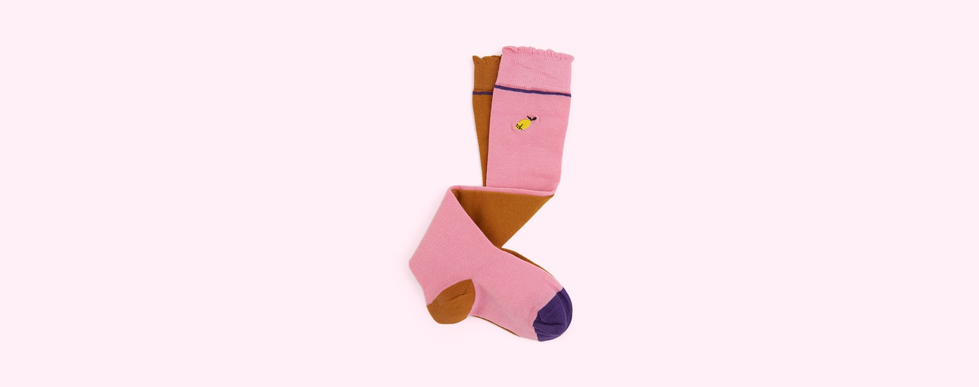 Gold & Pink Sticky Lemon Special Edition Knee High Socks