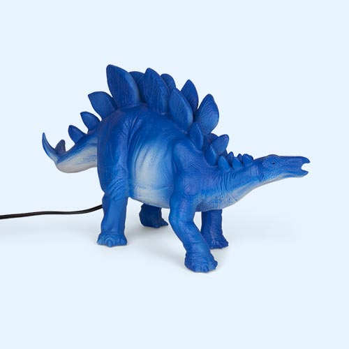Blue House of Disaster Stegosurus Table Lamp