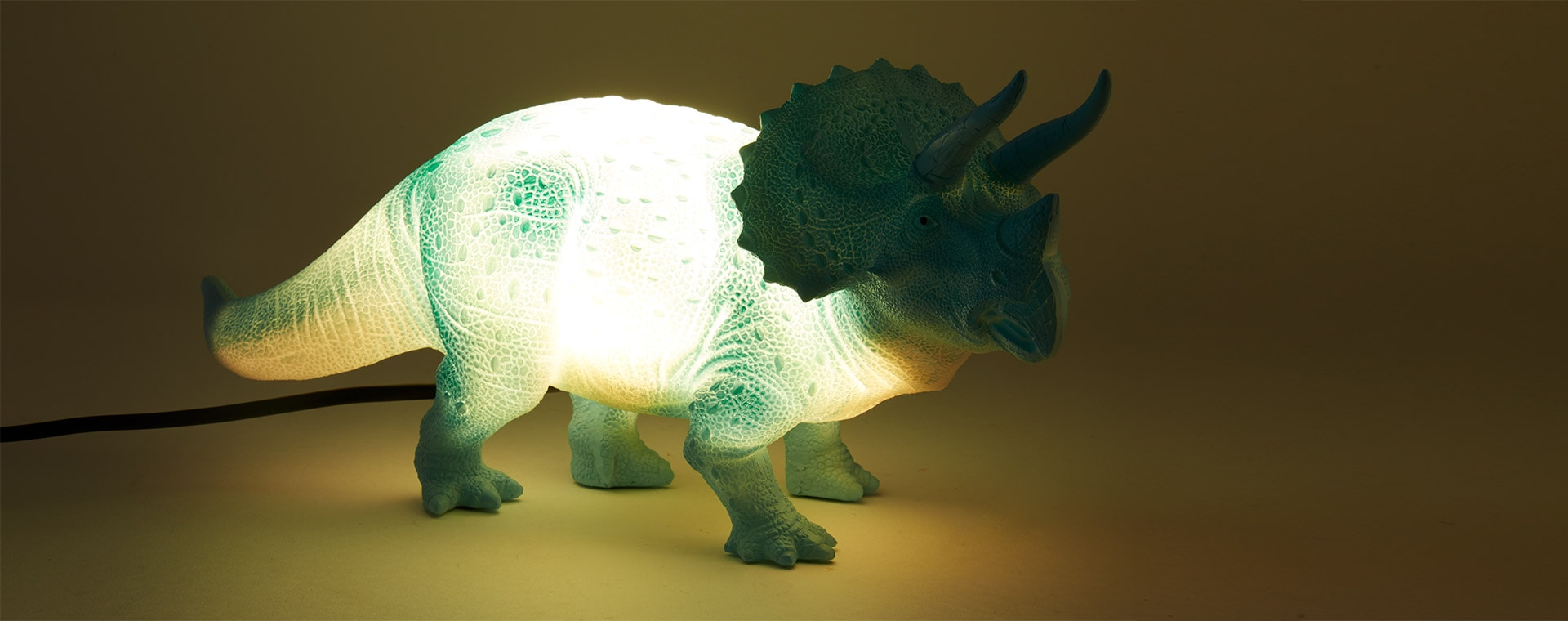 Turquoise House of Disaster Triceratops Table Lamp