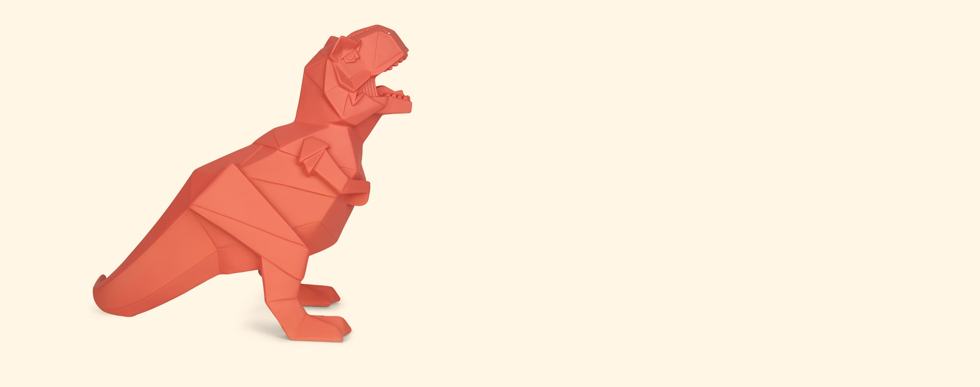 Orange House of Disaster T-Rex Dinosaur Lamp