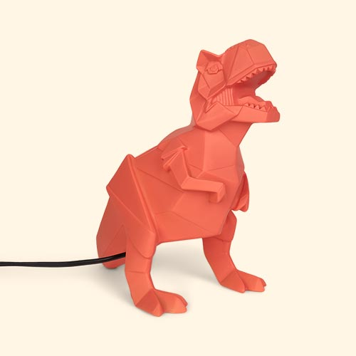 Orange House of Disaster T-Rex Dinosaur Lamp