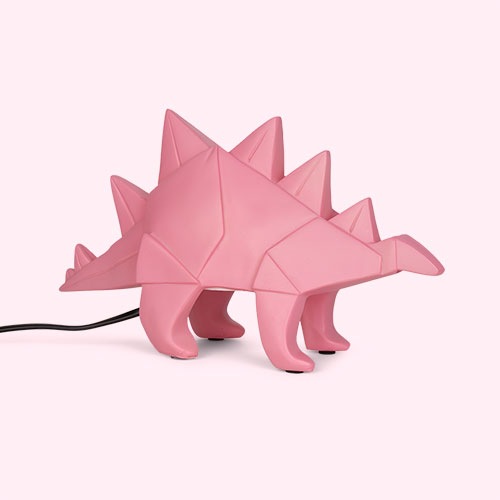 Pink House of Disaster Stegosaurus Dinosaur Lamp