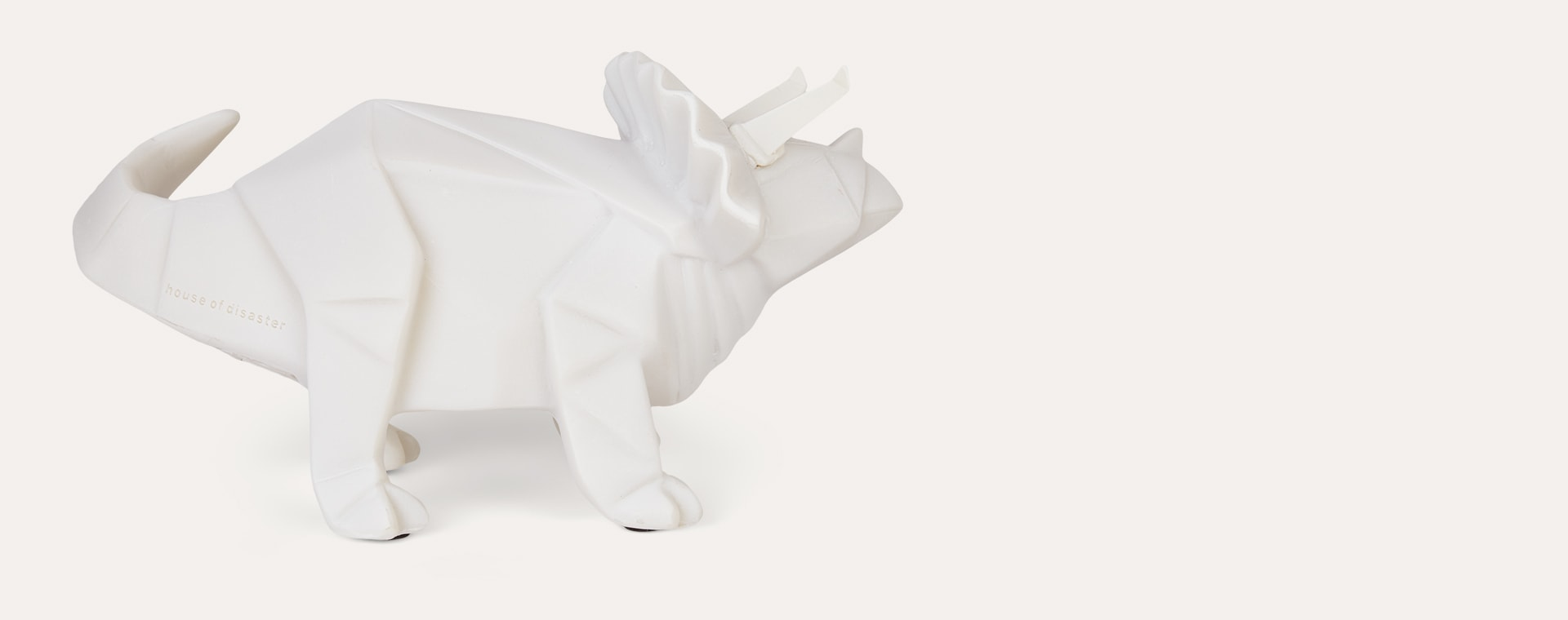 Triceratops House of Disaster Origami Dinosaur LED Lamp