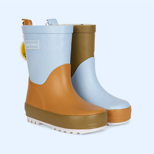 Blue Sticky Lemon Three Tones Rainboot