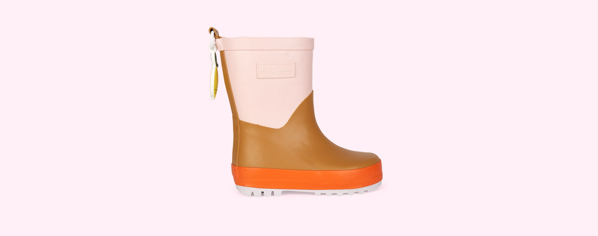Pink Sticky Lemon Three Tones Rainboot