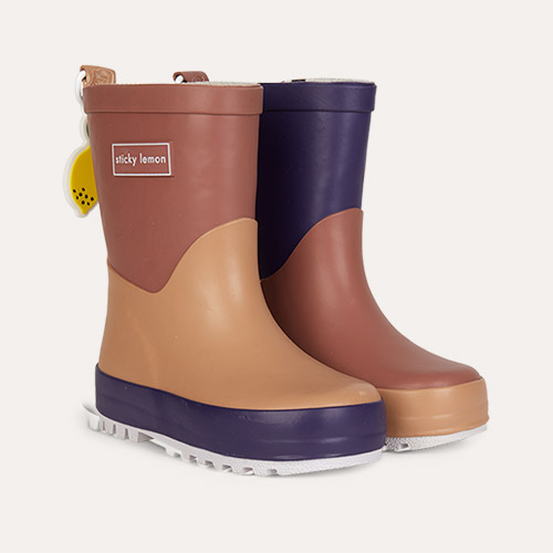 Purples Sticky Lemon Three Tones Rainboot