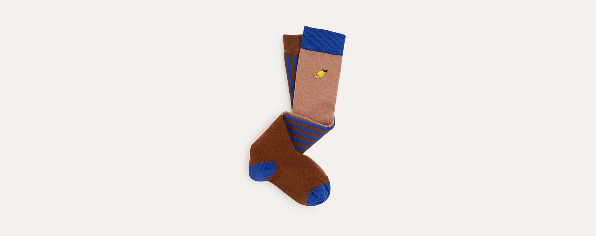 Chocolate Brown Sticky Lemon Deluxe Knee High Socks