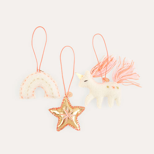 Multi Meri Meri Magical Felt Tree Decorations Set Of 3