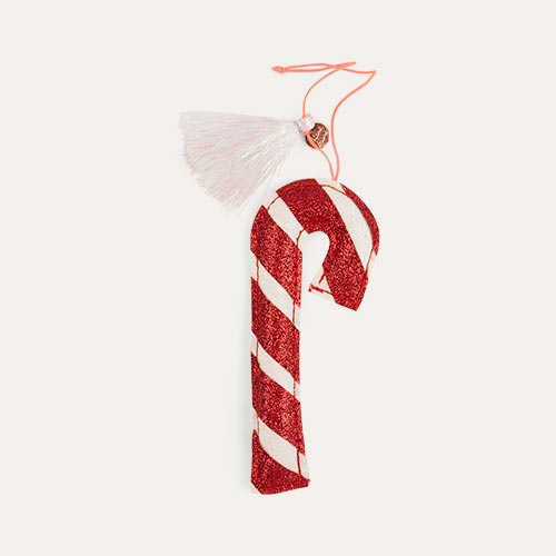 Red Meri Meri Candy Cane Tree Decoration